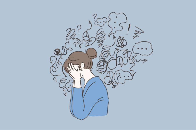 interview anxiety woman worried thoughts