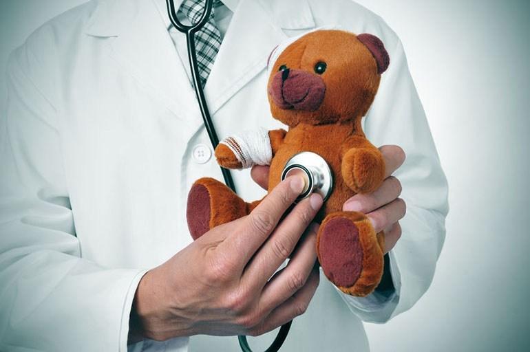 doctor with teddy bear