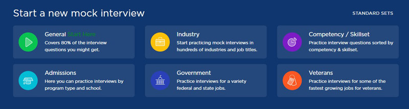 Choose the interview type you want to get ready for