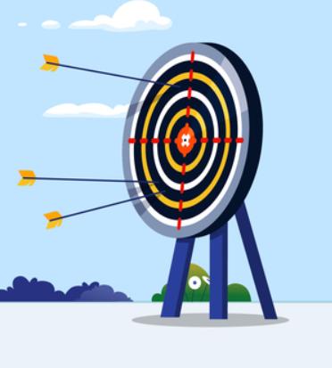 target with arrows career goals