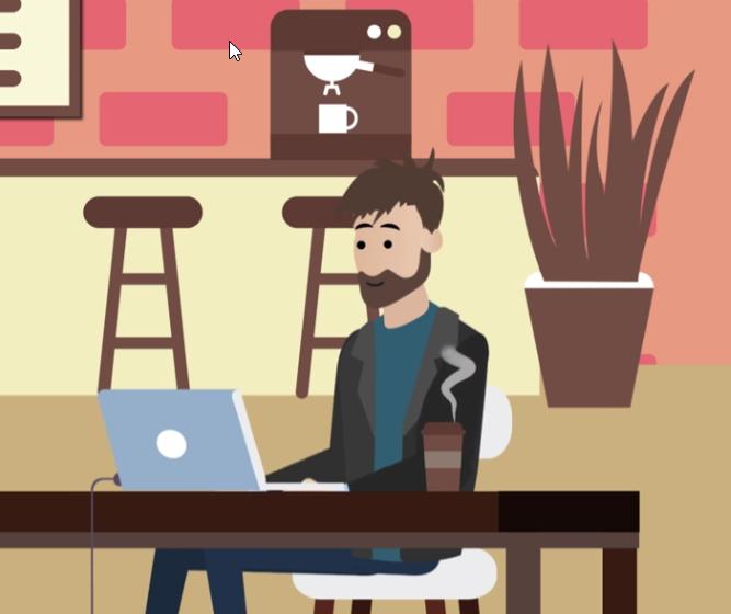 man in coffee shop career advice