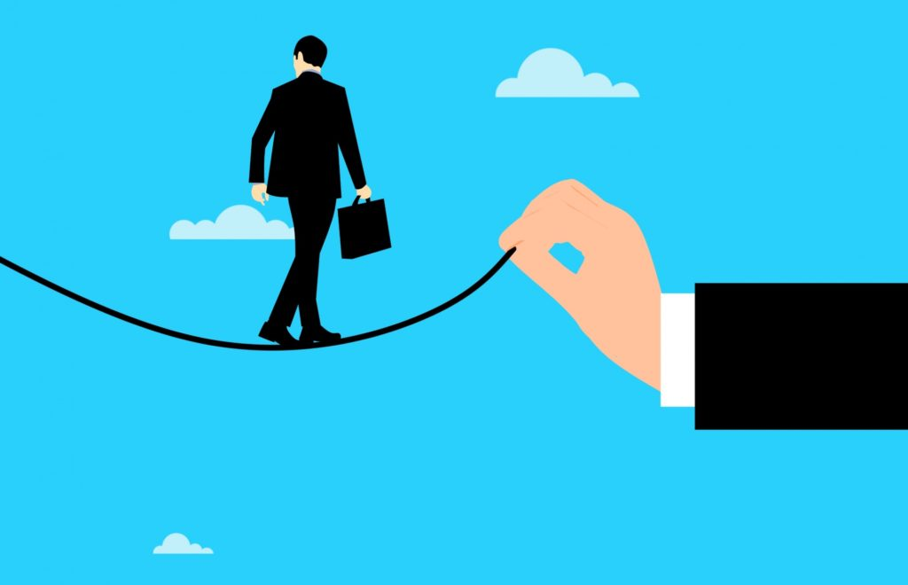 business-risk walking the wire